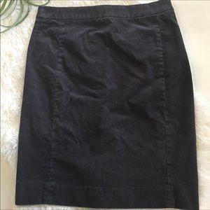 J. Crew gray corduroy skirt size 6